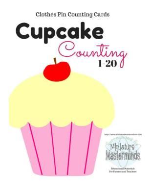 Tarjetas para aprender los números, Motivos Cupcakes (1)