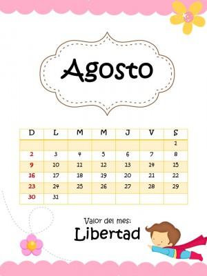 Agenda 2015 2016 Motivo niñas (18)