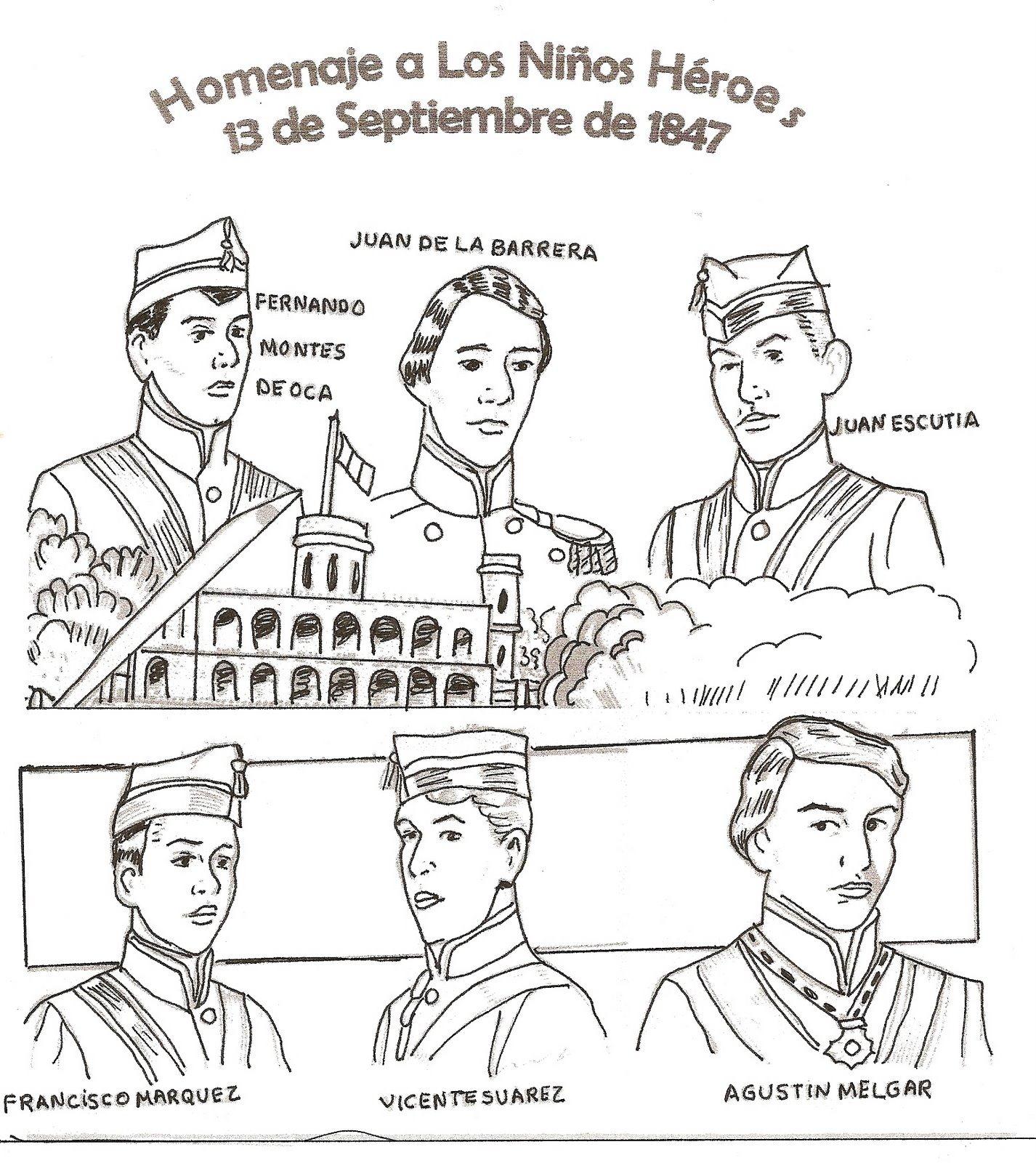 Te Cuento Un Cuento Dibujos De Los Niños Héroes Para Colorear