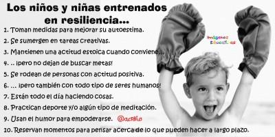 Los niños y niñas entrenados en resiliencia…