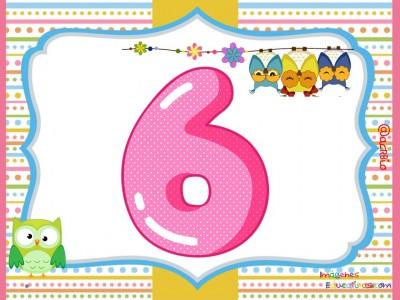 Números 1 al 9 Motivo Búhos (6)