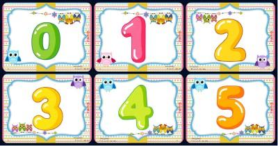 Números 1 al 9 Motivo Búhos Portada