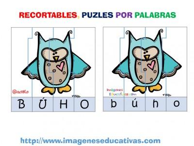 Puzle por letras animales (5)