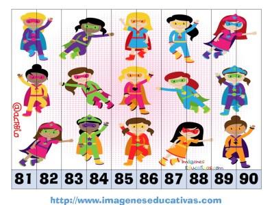 Recortables para imprimir. Puzles por números y letras (24)