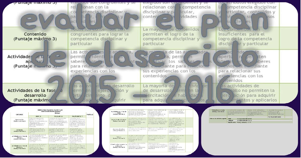 Rúbrica para evaluar el plan de clase. Descargala en PDF - Imagenes ...