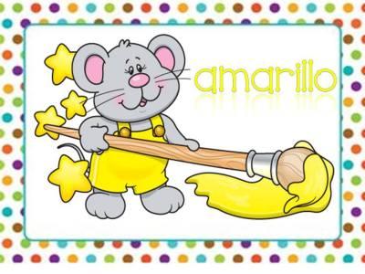 Tarjetas aprendemos los colores con en ratón Colorín (7)