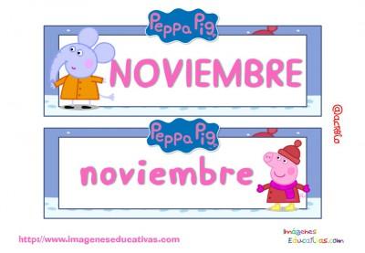 Tarjetas imprimibles Meses y estaciones Peppa Pig (12)