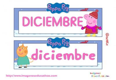 Tarjetas imprimibles Meses y estaciones Peppa Pig (13)