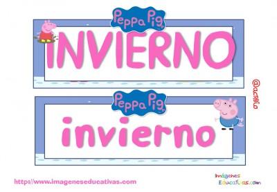 Tarjetas imprimibles Meses y estaciones Peppa Pig (15)