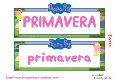 Tarjetas imprimibles Meses y estaciones Peppa Pig (16)