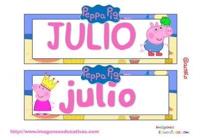 Tarjetas imprimibles Meses y estaciones Peppa Pig (8)