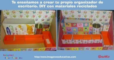 Te enseñamos a crear tu propio organizador de escritorio. DIY con materiales reciclados