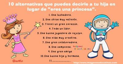 10 alternativas que puedes decirle a tu hija en lugar de princesa Portada