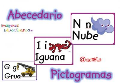 Abecedario Ilustrado Con Pictogramas 60 Fichas Diferentes