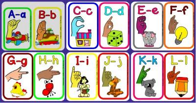 Abecedario lenguaje de signos Star Creando