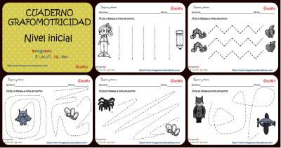 Completo Cuaderno de Aprestamiento trabajamos la Grafomotricidad Portada
