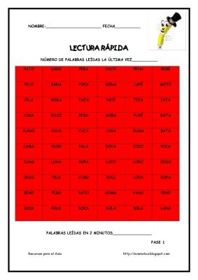 Cuaderno para mejorar la lectura. Lectura Rápida (4)