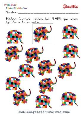 Elmer Elefante atención y grafo (18)