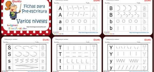 Fichas preescritura y grafo abecedario Portada