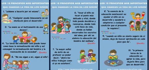 Método Montessori los 10 principios Portada