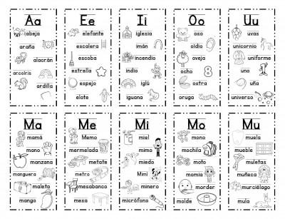 Manipulativo para aprender las vocales y las silabas