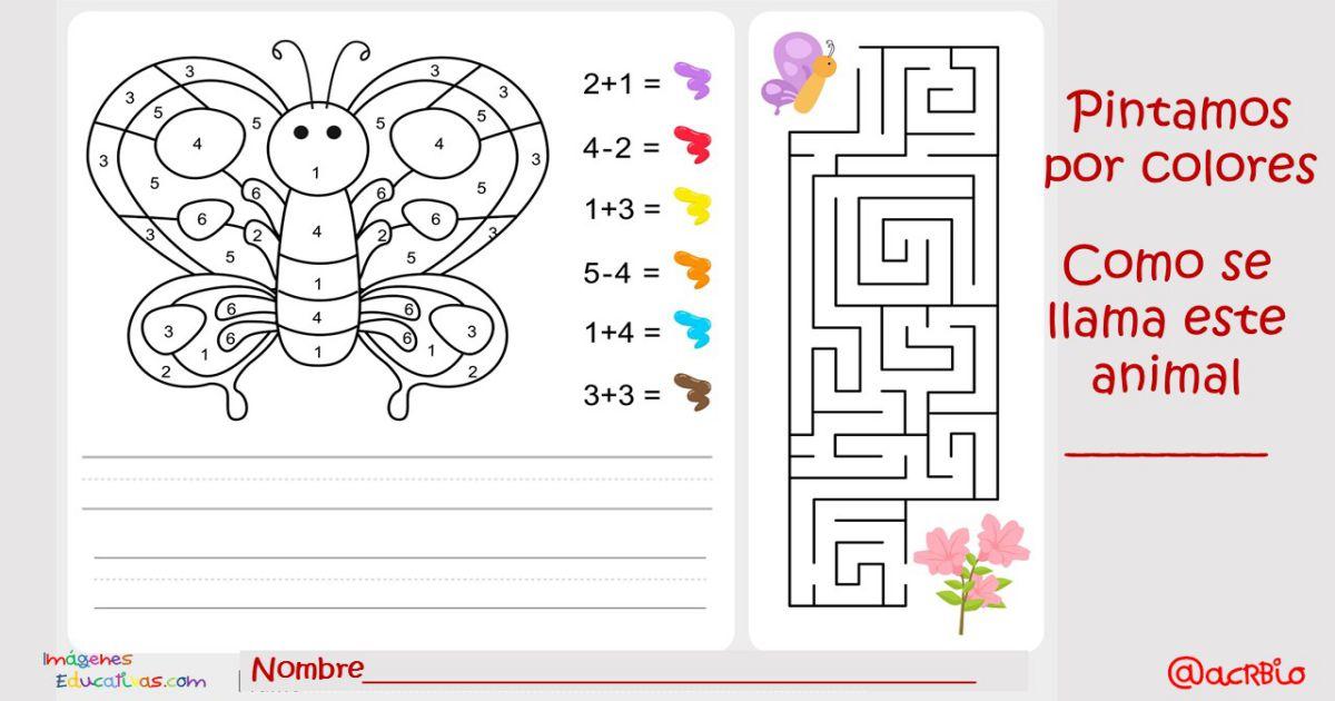 Pintamos por colores y números. Actividades matemáticas para ...