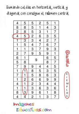 Sopas de Numeros Repasamos la suma (2)