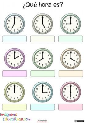 Trabaja las horas y los relojes (3)
