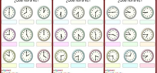 Trabaja las horas y los relojes Portada