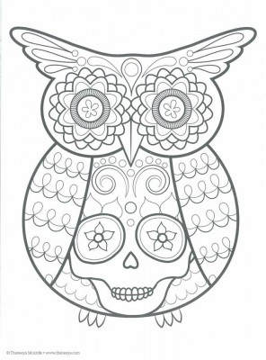 Dibujos para colorear el día de los muertos (1)