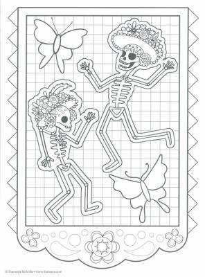 Dibujos para colorear el día de los muertos (11)