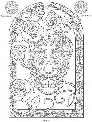 Dibujos De Calaveras Para Colorear Pdf 45 Mejores Imágenes De