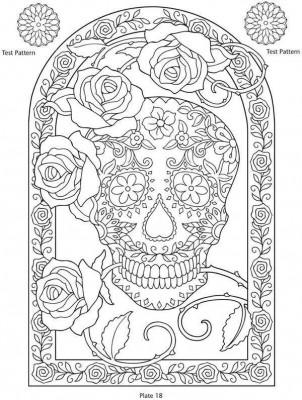 Dibujos para colorear el día de los muertos (14)