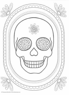 Dibujos para colorear el día de los muertos (20)