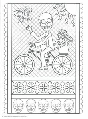 Dibujos para colorear el día de los muertos (21)