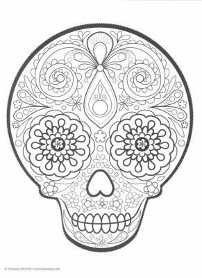 Dibujos para colorear el día de los muertos (22)