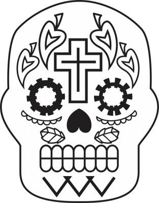 Dibujos para colorear el día de los muertos (23)