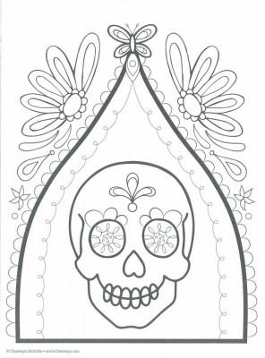 Dibujos para colorear el día de los muertos (33)