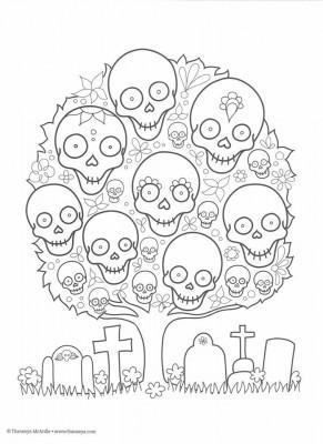 Dibujos para colorear el día de los muertos (34)
