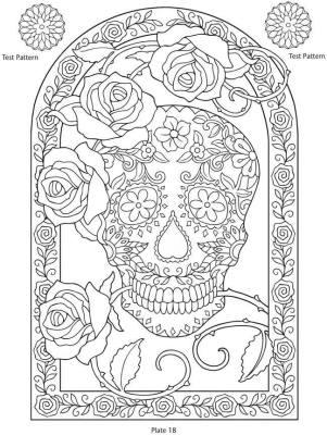 Dibujos para colorear el día de los muertos (35)