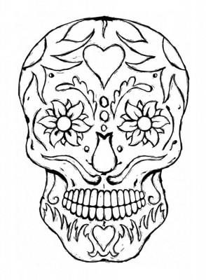 Dibujos para colorear el día de los muertos (40)