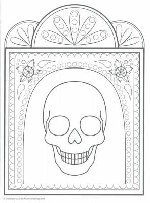Dibujos para colorear el día de los muertos (47)