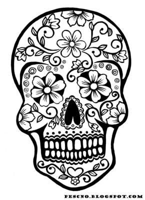 Dibujos para colorear el día de los muertos (54)