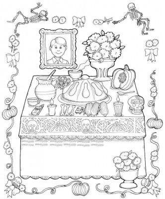 Dibujos para colorear el día de los muertos (58)