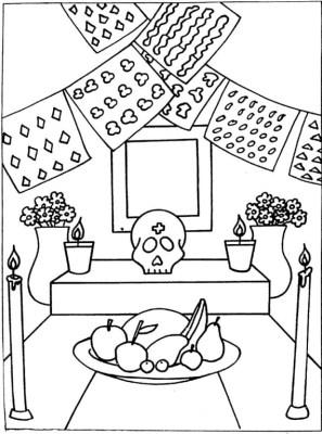 Dibujos para colorear el día de los muertos (59)