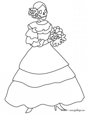 Dibujos para colorear el día de los muertos (60)
