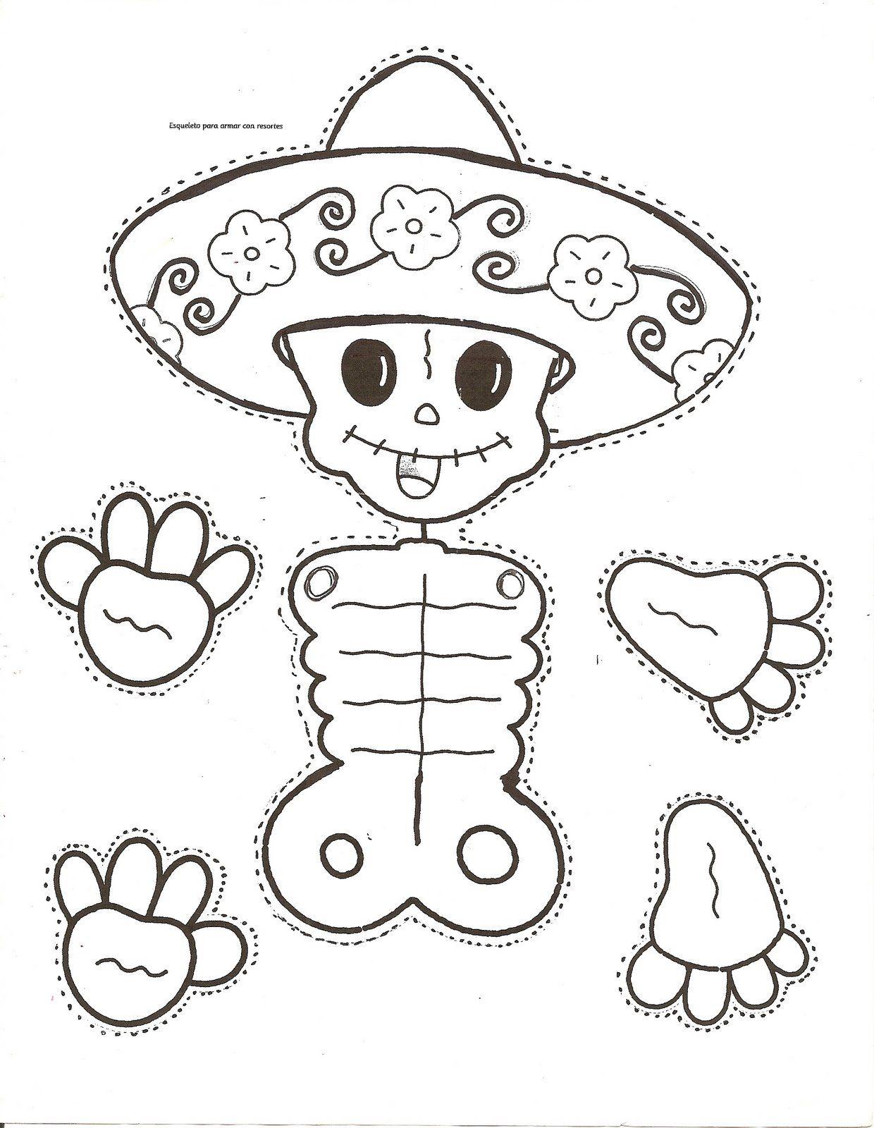 Dibujos Para Colorear El Día De Los Muertos 63 Imagenes Educativas