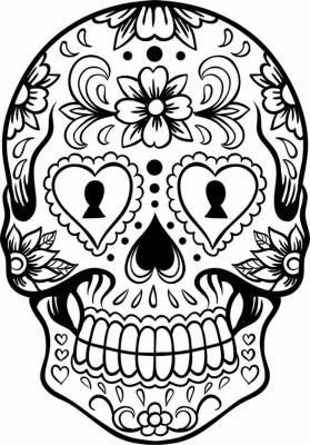 Dibujos para colorear el día de los muertos (7)