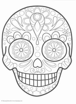 Dibujos para colorear el día de los muertos (9)