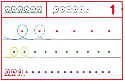 Fichas Grafomotricidad trabajamos la grafia de los números (6)